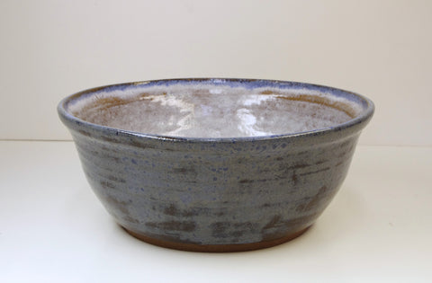 White Horse Pottery hand thrown Stoneware Bowl Blue