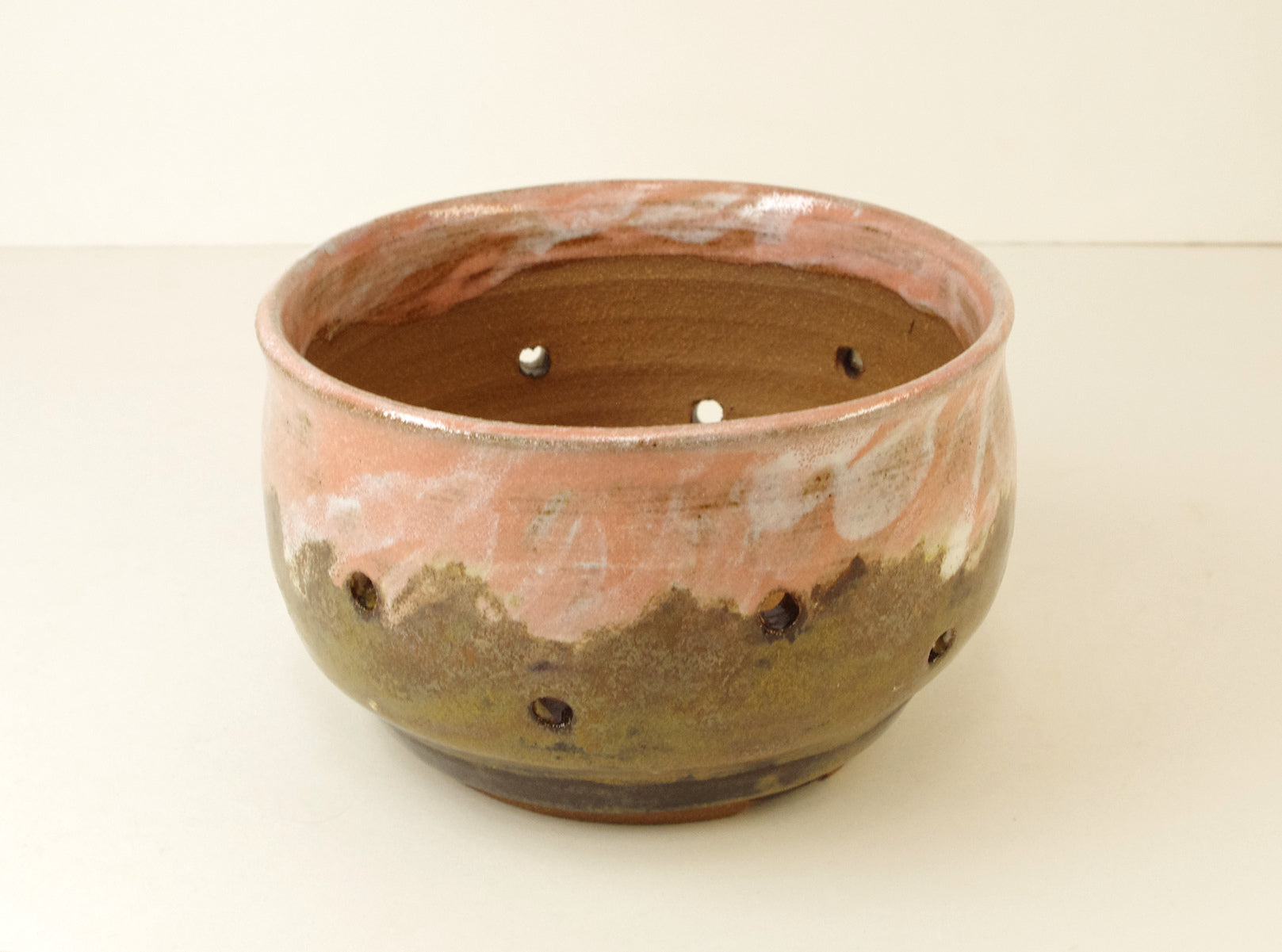 1073 Hand Thrown Stoneware Orchid Pot, 4 7/8 x 3