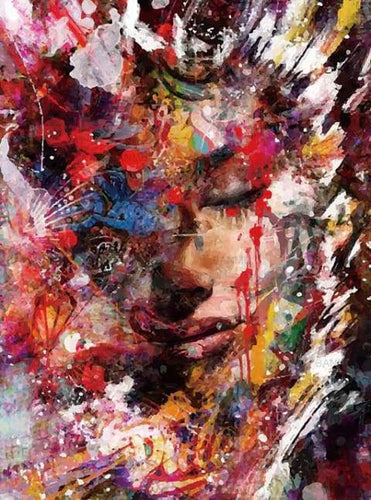 paint by numbers | Abstract Female Face | advanced world | FiguredArt