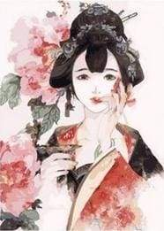 paint by numbers | Asian Lady with Roses | easy world | FiguredArt