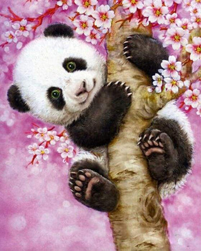 paint by numbers | Baby Panda | animals intermediate pandas | FiguredArt