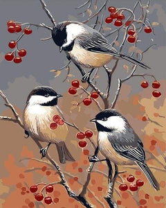paint by numbers | Birds and Fruit Tree | animals birds easy | FiguredArt