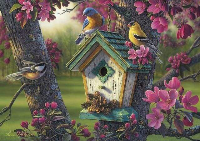 paint by numbers | Birds Nest | advanced animals birds | FiguredArt
