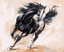 Load image into Gallery viewer, paint by numbers | Black Horse | animals horses intermediate | FiguredArt