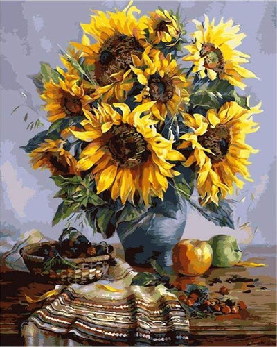 paint by numbers | Bouquet of Sunflowers | flowers intermediate | FiguredArt