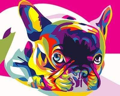 paint by numbers | Carlin Pop Art | animals dogs easy new arrivals | FiguredArt