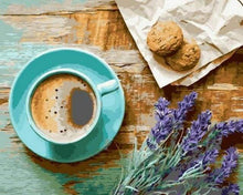 Load image into Gallery viewer, paint by numbers | Coffee Break | easy flowers kitchen | FiguredArt