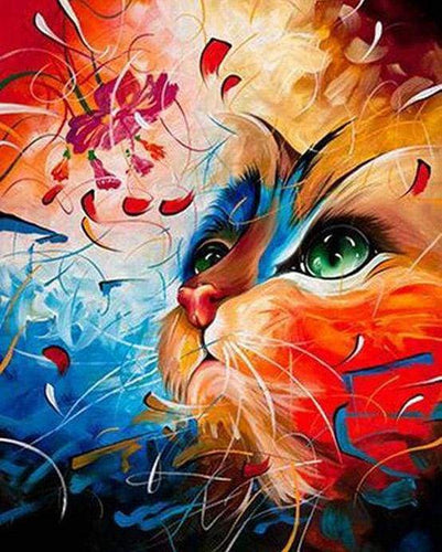 paint by numbers | Colored cat | advanced animals cats | FiguredArt