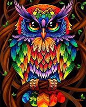 Load image into Gallery viewer, paint by numbers | Colorful Owl | animals easy owls Pop Art | FiguredArt