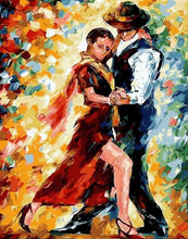 Load image into Gallery viewer, paint by numbers | Couple of Dancers | advanced dance romance | FiguredArt