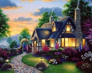 paint by numbers | Cozy House | advanced landscapes new arrivals | FiguredArt