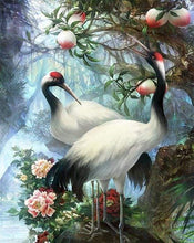 Load image into Gallery viewer, paint by numbers | Crane with Red Head | advanced animals birds cranes | FiguredArt