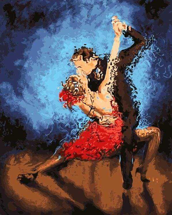 paint by numbers | Crazy Tango | dance intermediate romance | FiguredArt