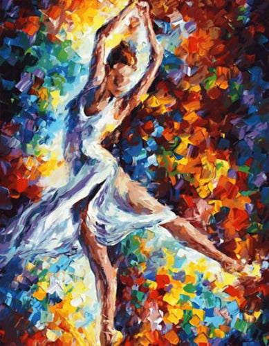 paint by numbers | Dancer in Motion | advanced dance | FiguredArt