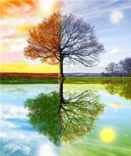 Load image into Gallery viewer, Diamond Painting | Diamond Painting - 4 Seasons Tree 2 | Diamond Painting Landscapes landscapes trees | FiguredArt