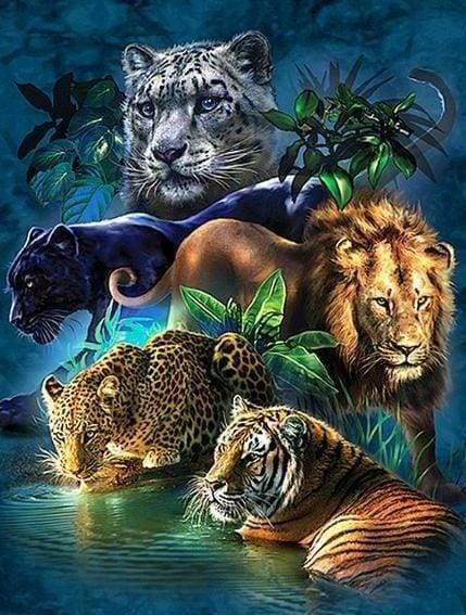 Diamond Painting | Diamond Painting - Animals of the Jungle | animals Diamond Painting Animals | FiguredArt