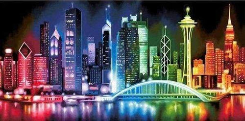 Diamond Painting | Diamond Painting - Asian City | cities Diamond Painting Cities | FiguredArt