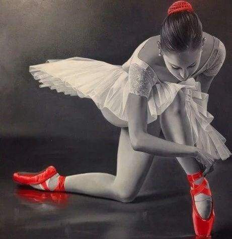 Diamond Painting | Diamond Painting - Ballerina and Red Pointe Shoes | dance Diamond Painting Dance | FiguredArt