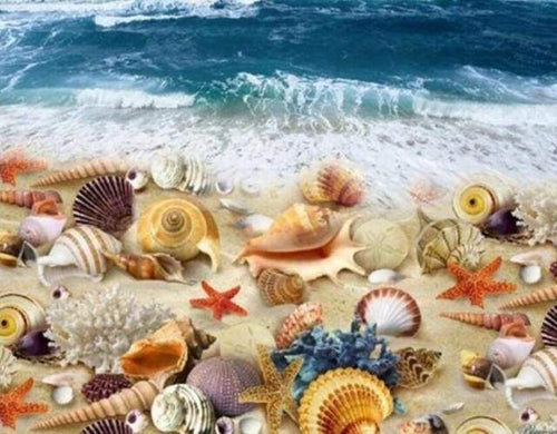 Diamond Painting | Diamond Painting - Beach and Shellfish | animals Diamond Painting Animals Diamond Painting Landscapes landscapes |