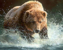 Load image into Gallery viewer, Diamond Painting | Diamond Painting - Bear in the River | animals bear Diamond Painting Animals | FiguredArt
