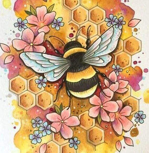 Diamond Painting | Diamond Painting - Bee | animals Diamond Painting Animals | FiguredArt