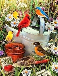 Diamond Painting | Diamond Painting - Birds in the Garden | animals birds Diamond Painting Animals Diamond Painting Flowers flowers |