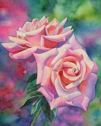 Diamond Painting | Diamond Painting - Blooming roses | Diamond Painting Flowers flowers | FiguredArt
