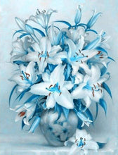 Load image into Gallery viewer, Diamond Painting | Diamond Painting - Blue Lily Flower | Diamond Painting Flowers flowers | FiguredArt