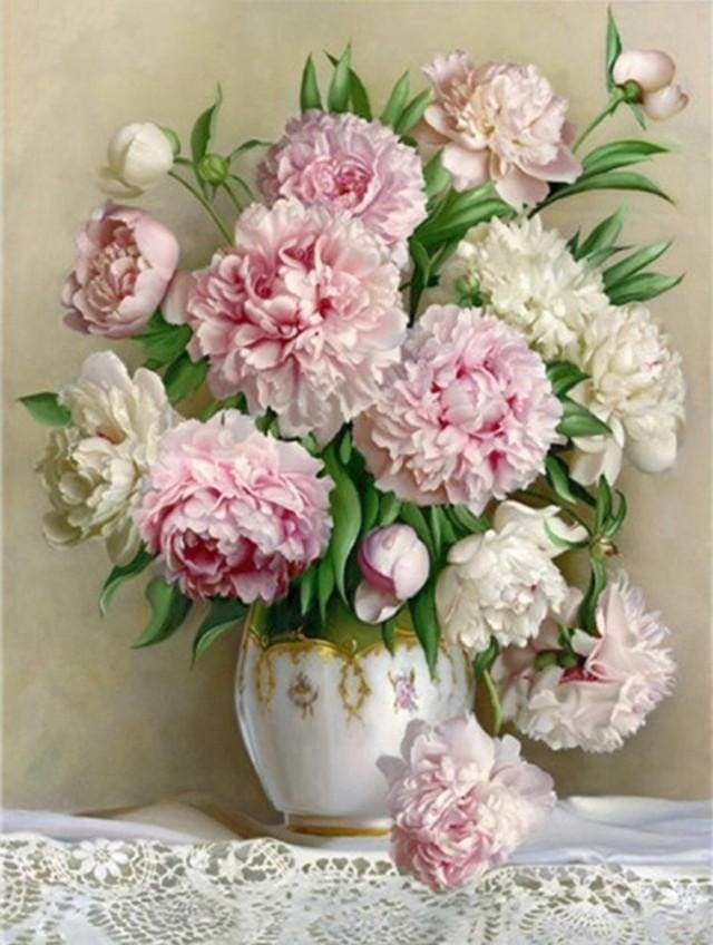 Diamond Painting | Diamond Painting - Bouquet of Peonies | Diamond Painting Flowers flowers | FiguredArt