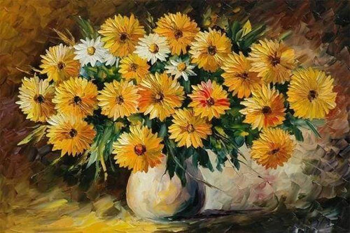 Diamond Painting | Diamond Painting - Bouquet of Yellow flowers | Diamond Painting Flowers flowers | FiguredArt