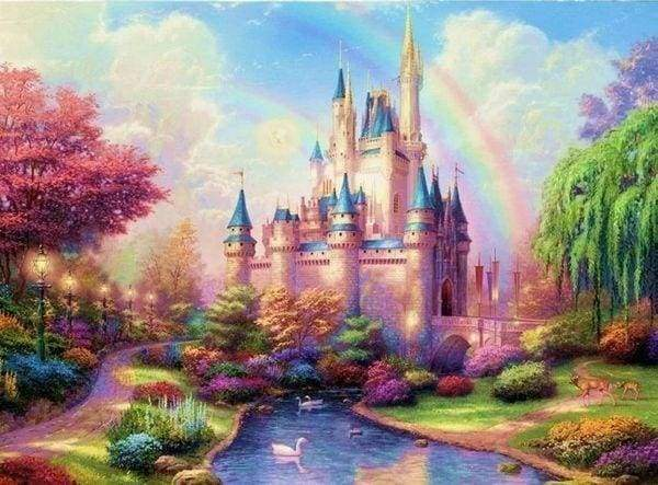 Diamond Painting | Diamond Painting - Bright Castle | castles Diamond Painting Romance romance | FiguredArt