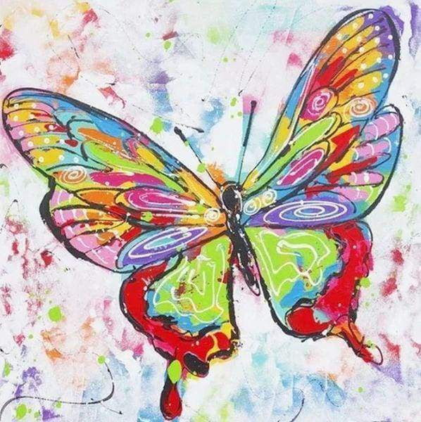 Diamond Painting | Diamond Painting - Butterfly multicolor | animals butterflies Diamond Painting Animals | FiguredArt