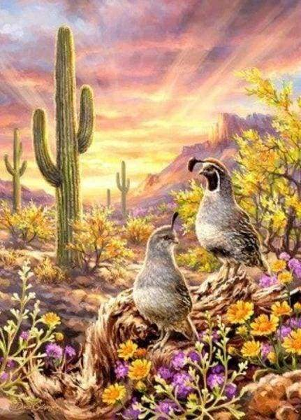 Diamond Painting | Diamond Painting - Cactus and Animals | animals Diamond Painting Animals | FiguredArt