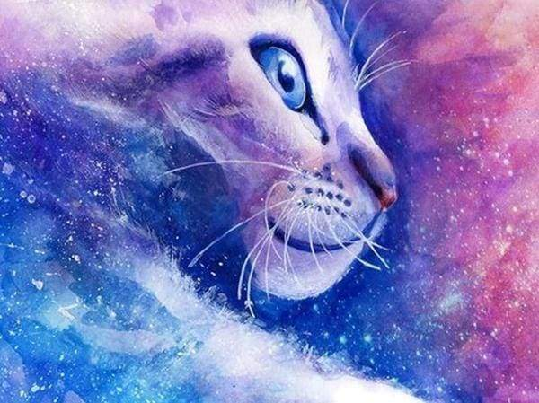 Diamond Painting | Diamond Painting - Cat Fantasy | animals cats Diamond Painting Animals | FiguredArt
