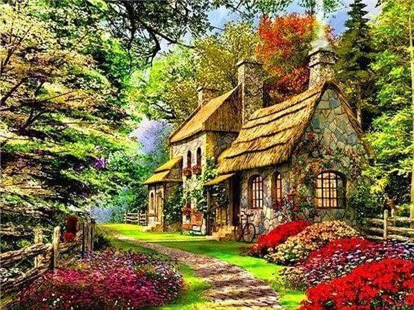 Diamond Painting | Diamond Painting - Chill House | Diamond Painting Landscapes landscapes | FiguredArt