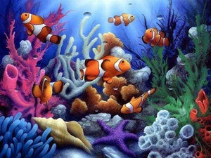 Diamond Painting | Diamond Painting - Clown Fish | animals Diamond Painting Animals fish | FiguredArt