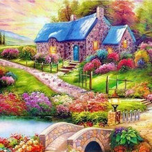 Load image into Gallery viewer, Diamond Painting | Diamond Painting - Colorful Country House | Diamond Painting Landscapes landscapes | FiguredArt