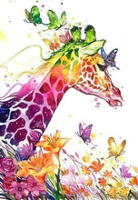 Load image into Gallery viewer, Diamond Painting | Diamond Painting - Colorful Giraffe | animals Diamond Painting Animals giraffes | FiguredArt