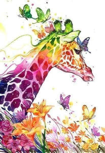 Diamond Painting | Diamond Painting - Colorful Giraffe | animals Diamond Painting Animals giraffes | FiguredArt