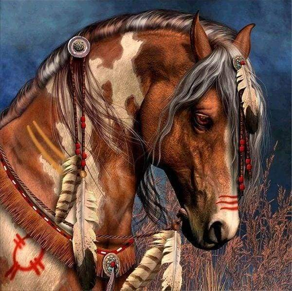 Diamond Painting | Diamond Painting - Country Horse | animals Diamond Painting Animals horses | FiguredArt