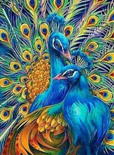 Load image into Gallery viewer, Diamond Painting | Diamond Painting - Couple of Peacocks | animals Diamond Painting Animals peacocks | FiguredArt