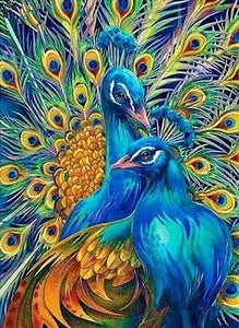 Diamond Painting | Diamond Painting - Couple of Peacocks | animals Diamond Painting Animals peacocks | FiguredArt
