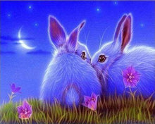 Load image into Gallery viewer, Diamond Painting | Diamond Painting - Cute Rabbits | animals Diamond Painting Animals rabbits | FiguredArt