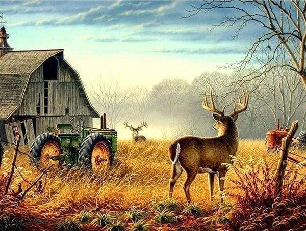 Diamond Painting | Diamond Painting - Deer Campaign | animals Diamond Painting Animals | FiguredArt