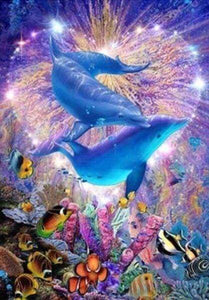 Diamond Painting | Diamond Painting - Dolphins | animals Diamond Painting Animals dolphins | FiguredArt