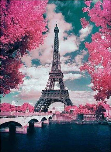 Diamond Painting | Diamond Painting - Eiffel Tower and Flowers | cities Diamond Painting Cities Diamond Painting Romance flowers romance |
