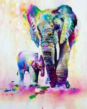 Load image into Gallery viewer, Diamond Painting | Diamond Painting - Elephant and calf | animals Diamond Painting Animals elephants | FiguredArt