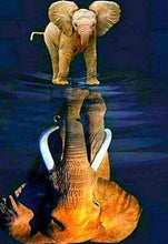 Load image into Gallery viewer, Diamond Painting | Diamond Painting - Elephant and its reflection | animals Diamond Painting Animals elephants | FiguredArt