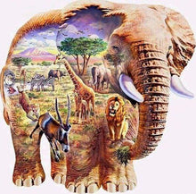 Load image into Gallery viewer, Diamond Painting | Diamond Painting - Elephant Landscape | animals Diamond Painting Animals elephants landscapes | FiguredArt