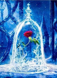 Diamond Painting | Diamond Painting - Enchanted Rose | Diamond Painting Flowers Diamond Painting Movies flowers movies | FiguredArt